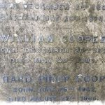William Cooper inscription on the family vault