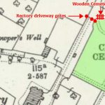 map showing position of wooden gates
