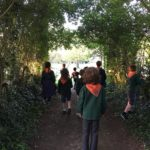 Berkhamsted Cubs and Beavers in the cemetery