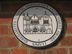 BCA environment-award plaque