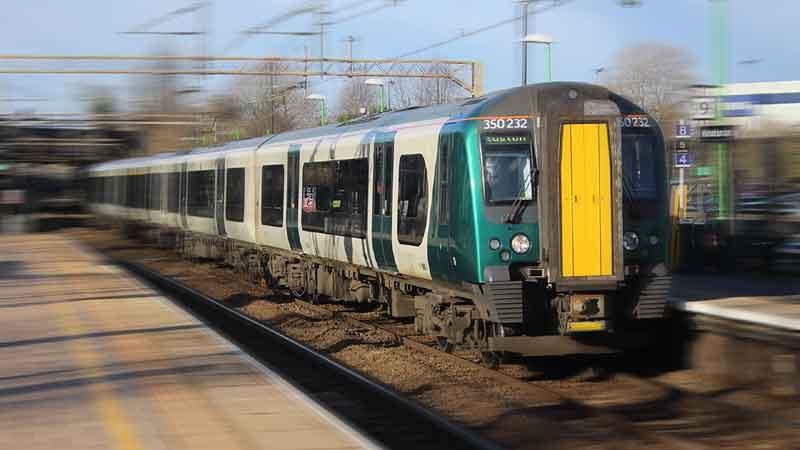 train on a railway line