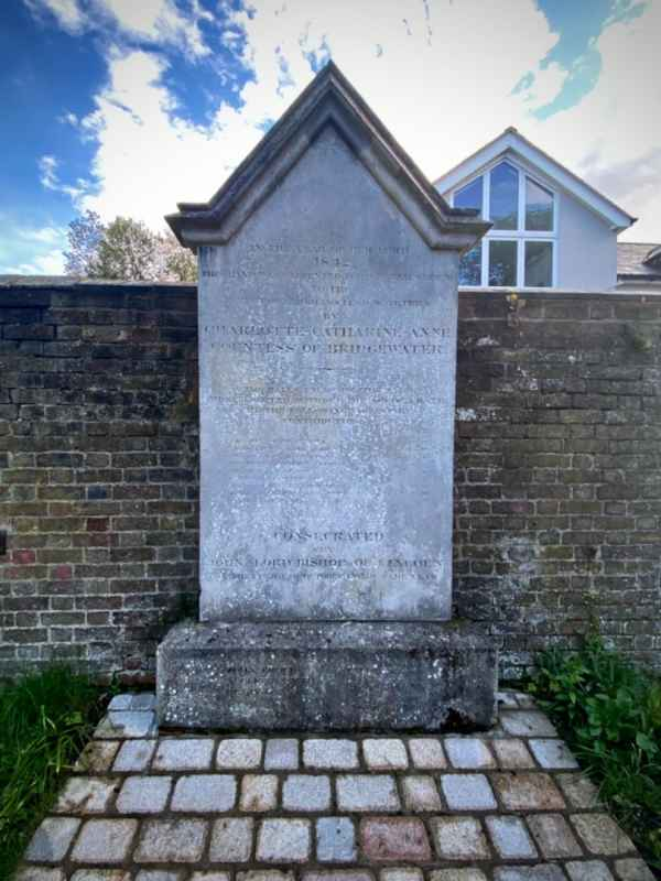 Countess of Bridgewater Commemoration Stone