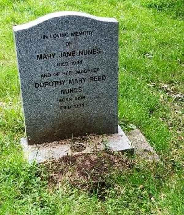 Dorothy Mary Reed Nunes plot